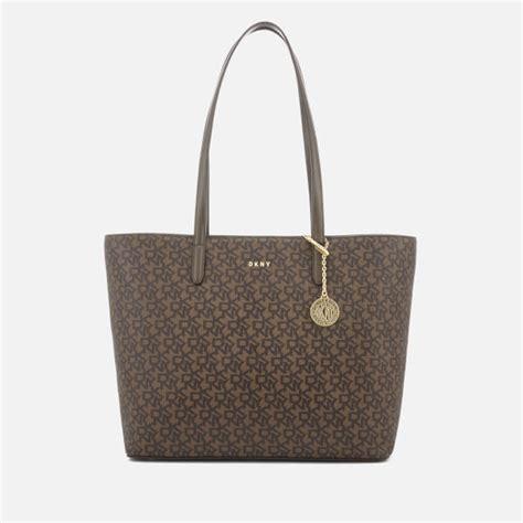 dkny womens bryant large tote bag brown logo  uk