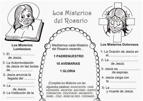parbolas los misterios del la catequesis recursos catequesis santo rosario para colorear para octubre rosario