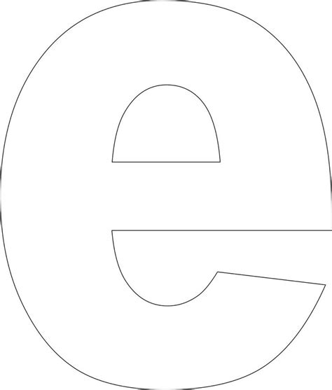 letter e template best photos of large letter e template free printable