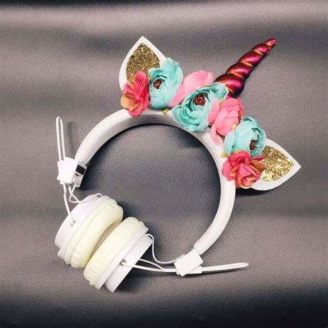 Handmade Headphones - free shipping handmade unicorn headphones best gift for