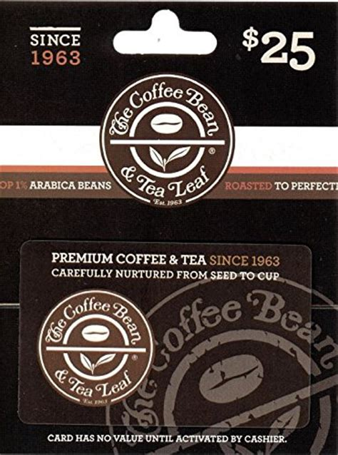 Coffee Bean Gift Card - the coffee bean tea leaf 25 gift card food beverages tobacco food items fruits