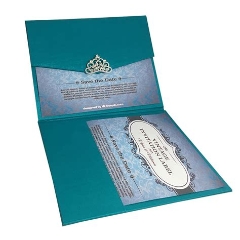 Wedding Invitations Luxury by Light Teal Color Luxury Silk Pocket Fold Design For