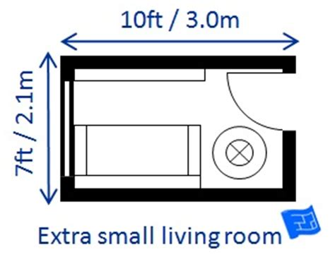 minimum living room size living room size