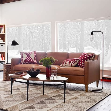 west elm montgomery sofa hamilton leather sofa 81 quot west elm