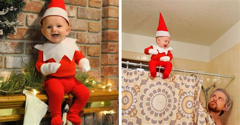 of six turns his baby into adorable on the shelf