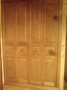 2 portes de placard pliantes en pin type kz