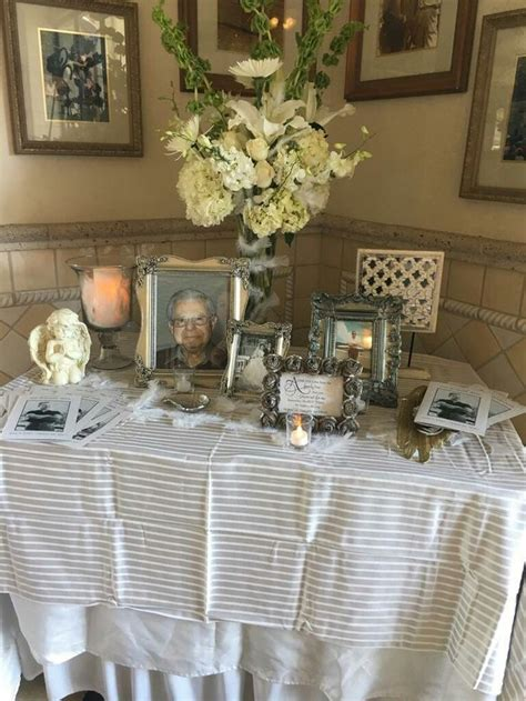 funeral decorations for tables funeral reception table crafts funeral