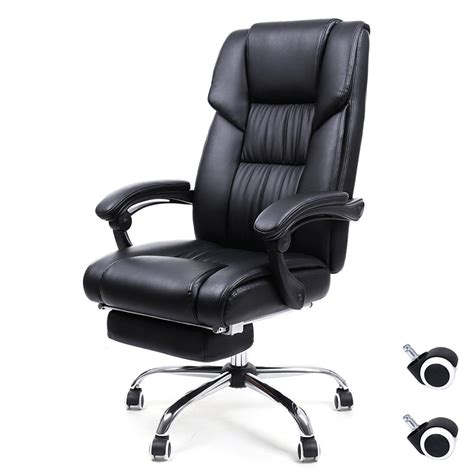 reclining office chairs  footrest