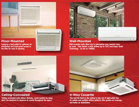 mitsubishi ductless ceiling mount ductless split air conditioners ac unit heat system