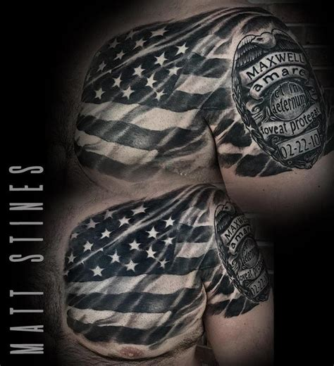 no regrets tattoo chaign il american flag by matt stines tattoos