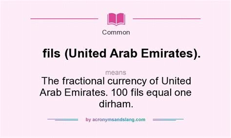 emirates meaning what does fils united arab emirates mean definition