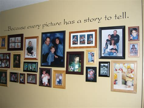 family picture wall family photo wall family wall with wall lettering
