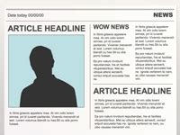 Editable Powerpoint Newspapers Newspaper Template For Powerpoint