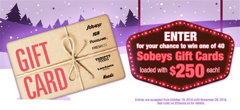 Sobeys Gift Cards - 2nd chance contests home