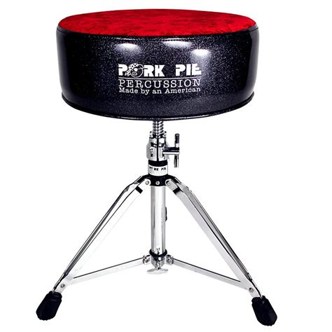Pork Pie Drum Stool by Pork Pie Drum Throne Black Sparkle With Crush Top Musician S Friend