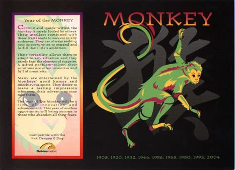 the chinese astrology chinese horoscope signs the monkey