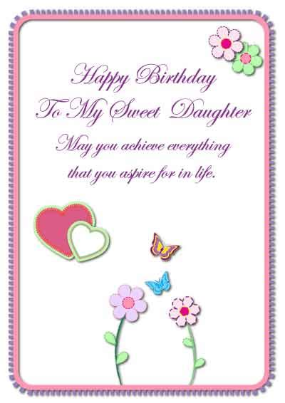 Printable Birthday Cards For Daughter | birthday cards for mom from daughter printable