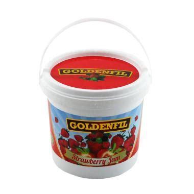 jual goldenfil selai stoberi pr strawberry jam 1 kg spread filling bpom mui merah