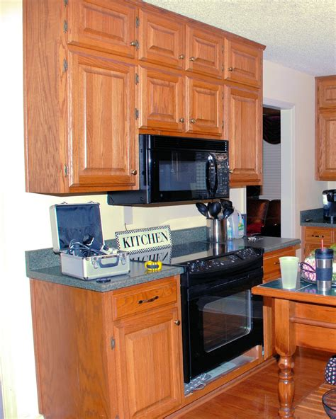 kitchen microwave cabinet southern inspirations my quot fake quot kitchen microwave hood