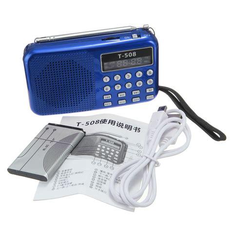 Usb Radio Fm T508 Mini Portable Led Light Stereo Fm Radio Mp3