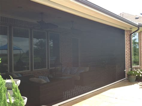 motorized patio screens houston tx motorized retractable screens solar screens