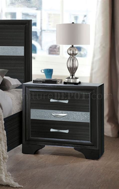 Naima Set naima bedroom set 5pc 25900 in black by acme w storage bed
