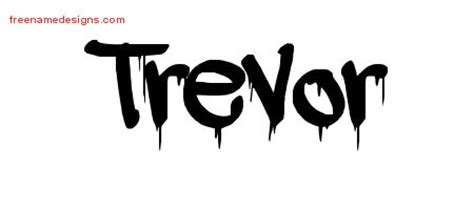 graffiti name tattoo designs trevor free free name designs