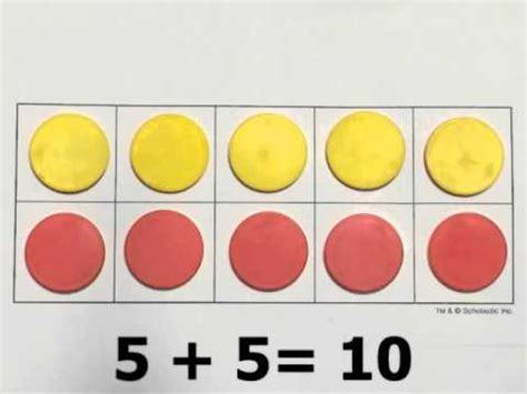 And Counters Make Ten On Ten Frames With Two Color Counters