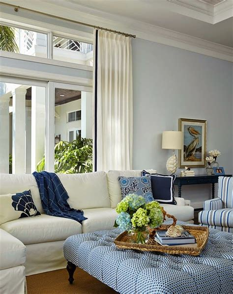 blue and white ottoman living room white sofas big ottoman pale blue walls