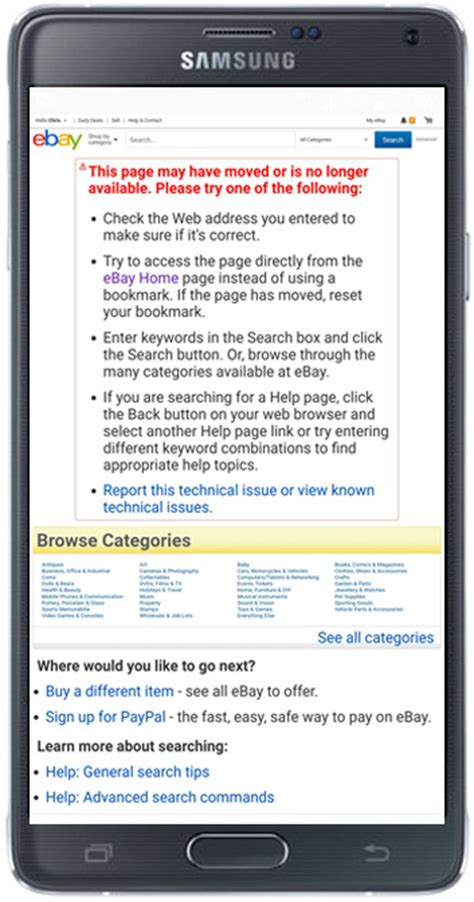 ebay site on mobile ebay mobile classic site broken updated now fixed