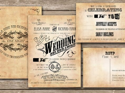 Wedding Announcement Vintage by 30 Unique Vintage Wedding Invitations