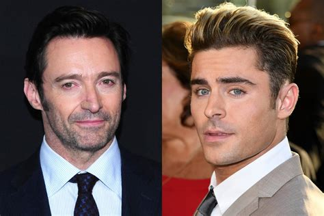 zac efron and hugh jackman hugh jackman rescued zac efron from a burning building for