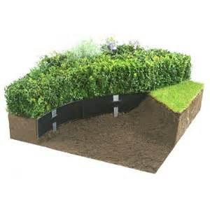 bordure de jardin souple en plastique noir recycl 233