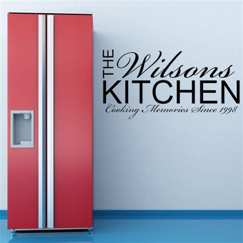 wall stickers for kitchens personalised kitchen wall sticker decals