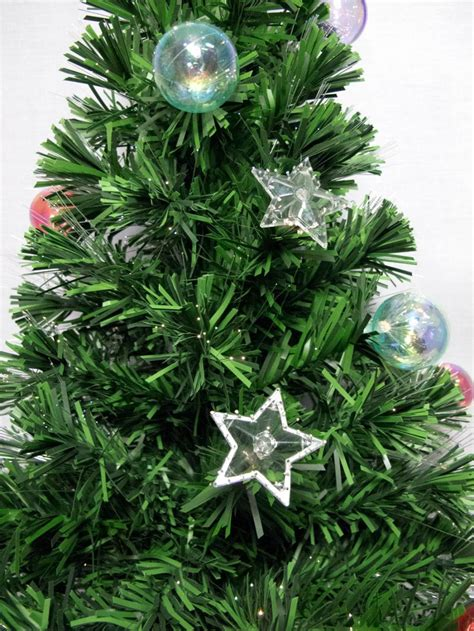 fibre optic trees sale australia multi colour with bauble decorations fibre optic