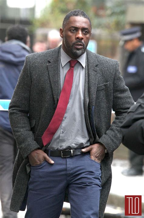 idris elba on the set of quot luther quot tom lorenzo