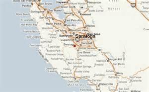map of saratoga california saratoga location guide