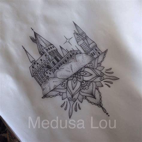 hogwarts tattoo hogwarts castle inspired by medusa lou