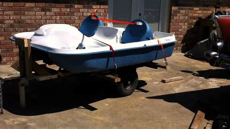 pelican pedal boat dolly paddle boat and trailer youtube