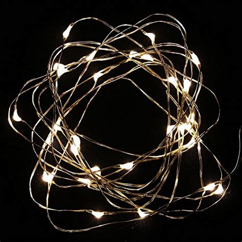 much led string lights copper wire 10ft 30 leds warm white