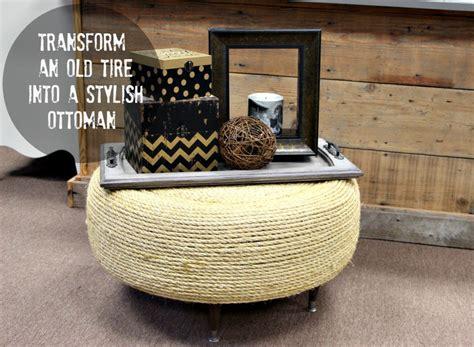 how to an ottoman easy diy tire ottoman
