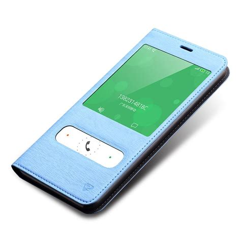 Meizu M2 Note Leather meizu m2 note daul view windows filp leather sky blue