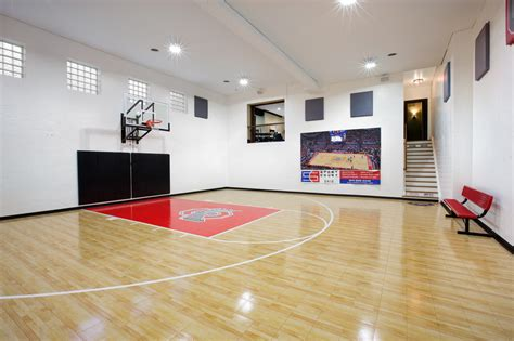 basement basketball court how to design a unique home gym basketball court columbus ohio