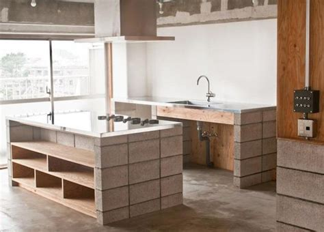 Cement Kitchen Cabinets On The Block Cinder Blocks As Design Elements The Interior Collective