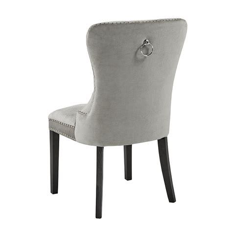 Grey Velvet Dining Chairs Euphoria Grey Velvet Dining Chair Xcella