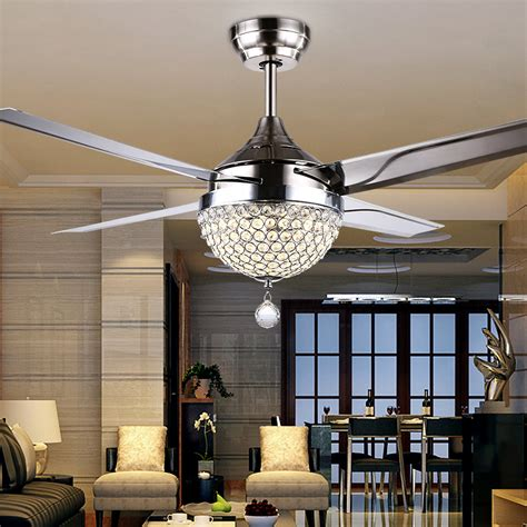 bedroom chandeliers with fans gale crystal light led ceiling light restaurant bedroom