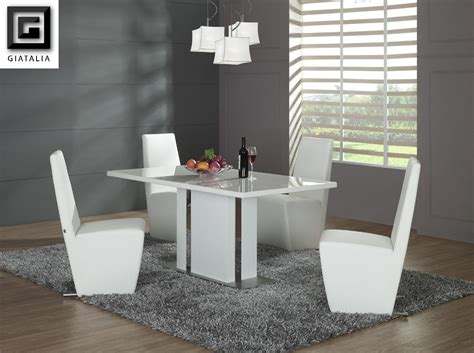 contemporary white dining table with chairs contemporary