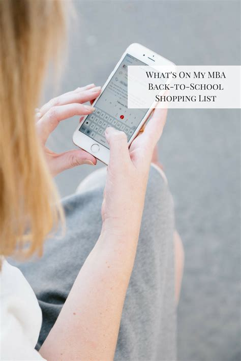 Mba Shopping List by What S On My Mba Back To School Shopping List Glitter