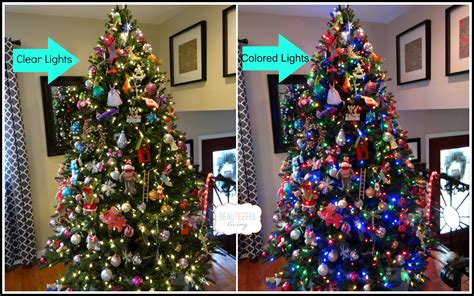 christmas tree with clear and multicolor lights 7 tips on decorating your tree beauteeful living