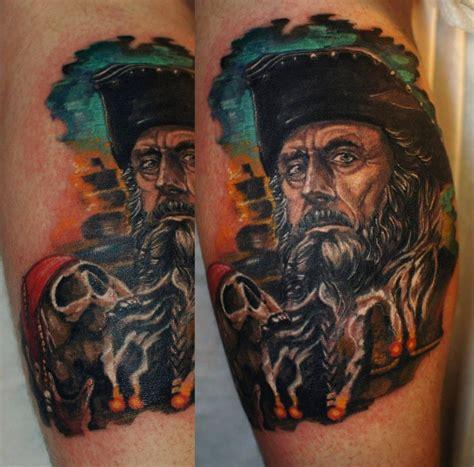 blackbeard tattoo blackbeard blackbeard tattoos cool tattoos